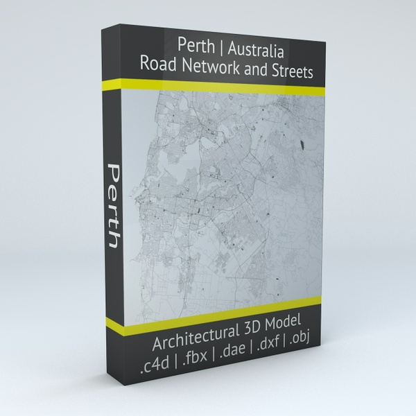 Perth Road Network Architectural 3D Model