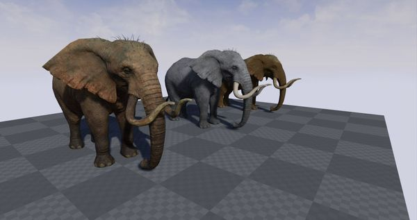 Realistic Elephant for Unreal Engine 4
