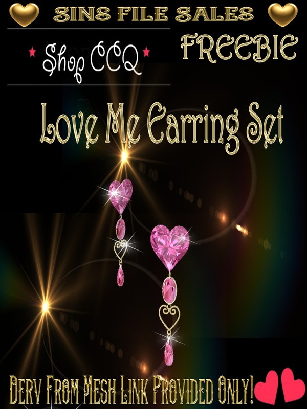 ~Freebie~ Love Me Earring Set