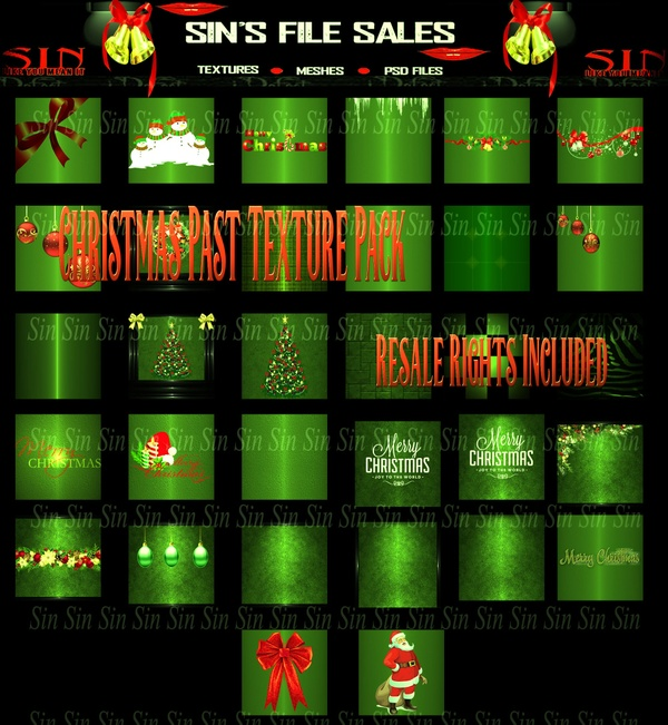 Christmas Past Texture Pack w/Resale Rights