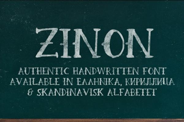 Zinon Handwritten FREE Font