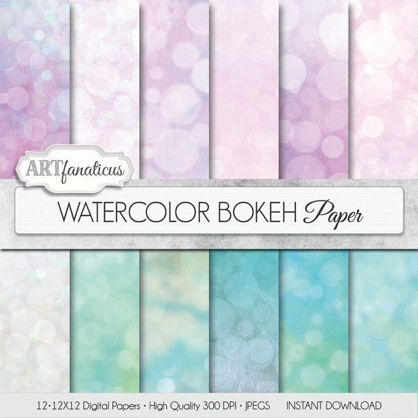 WATERCOLOR BOKEH - DIGITAL PAPER