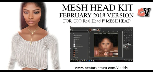 2018 Female Mesh Head Kit for ICO Real Head I by VLADDY