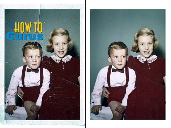 How to Repair and Restore and Old Damaged Photo in Photoshop Elements 14 13 12 11 Tutorial