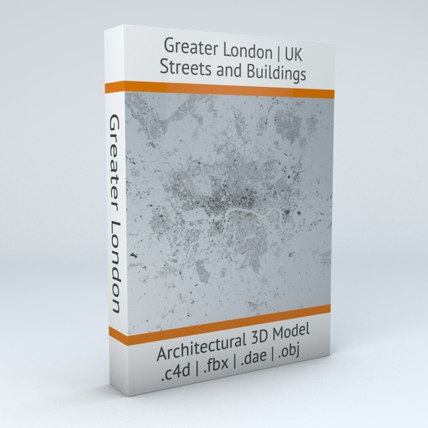 Greater London Streets and Buildings Architectural 3D Model