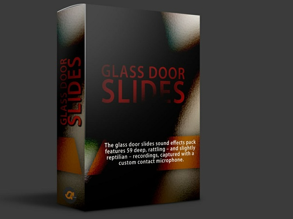 Glass door slides