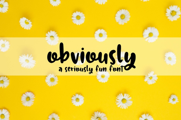 Obviously - A Seriously Fun Font