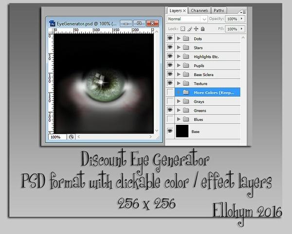 Ellohym - Discount Eye Generator - PSD format
