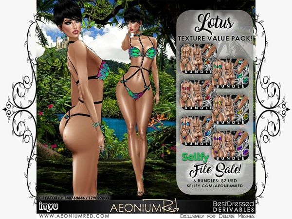 IMVU File Sale! Lotus 6 Bundles Texture Value Pack