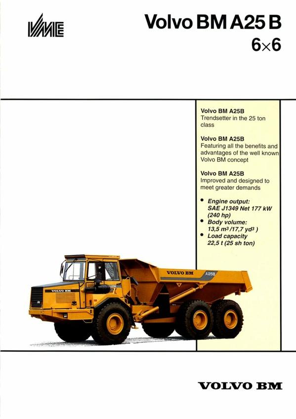 PDF DOWNLOAD VOLVO BM A25B ARTICULATED HAULER REPAIR SERVICE MANUAL