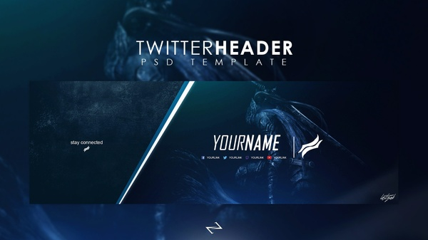 Professional Gaming Twitter Header Template by LastZAK