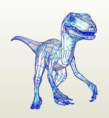 Velociraptor FULL SCALE Pepakura PDO file