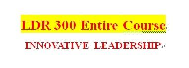 LDR 300 Week 3 Leadership and Power Paper