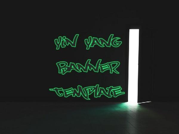 Yin Yang Banner Template