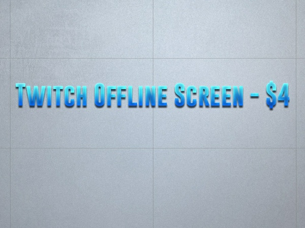 how to change twitch offline screen