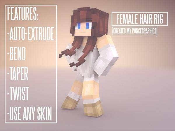 Minecraft female Hair Rig v2
