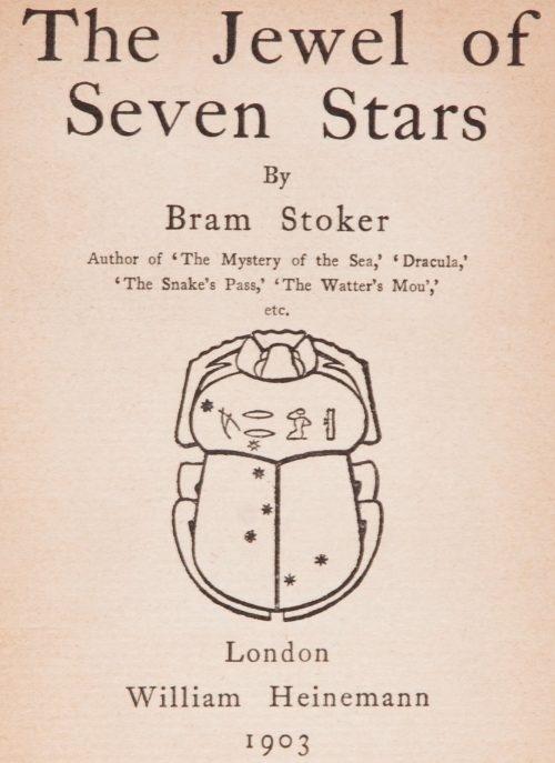 Bram Stoker: Il Gioiello delle Sette Stelle