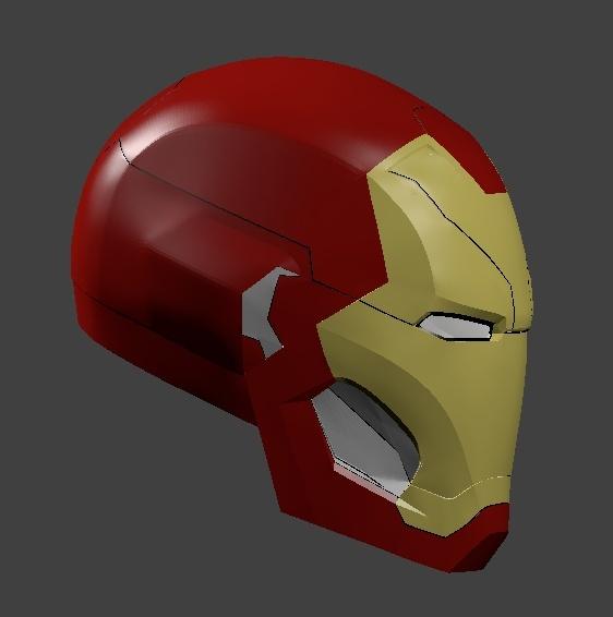 Iron Man MK46 Helmet 3d printable