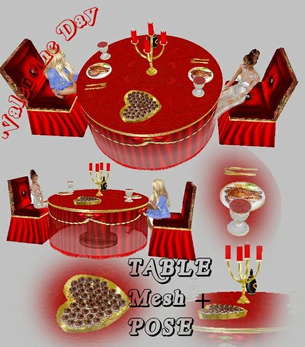 Table Romantic Valentine MESH