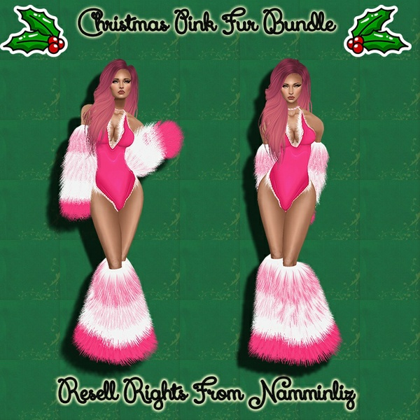 Christmas Pink Fur Bundle Catty Only!!!