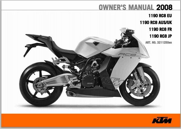 2008 KTM 1190 RC8 Service Repair Manual pdf download