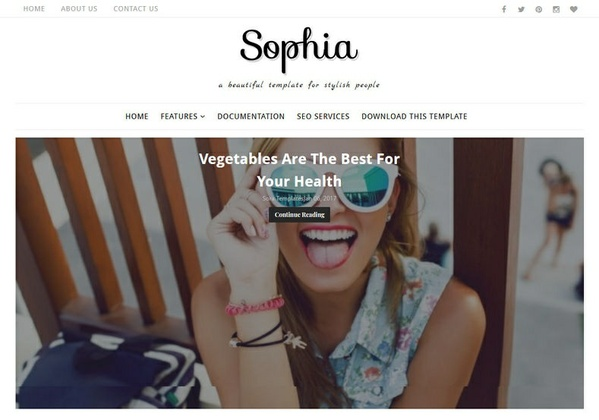 Sophia Blogger Template Premium Version