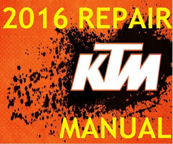 ► 2016 ◄ KTM 250 SX 250 XC 300 XC WORKSHOP SERVICE REPAIR MANUAL PDF DOWNLOAD