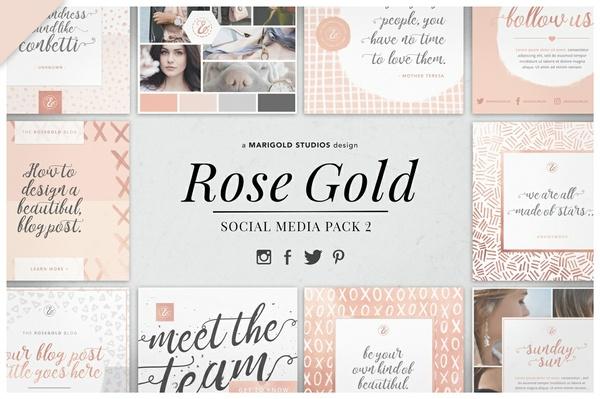 ROSE GOLD | Social Media Pack 2