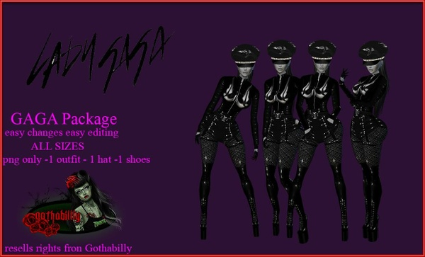 Gaga Babe Package - Png - Exclusive FILE Catty Only!!!