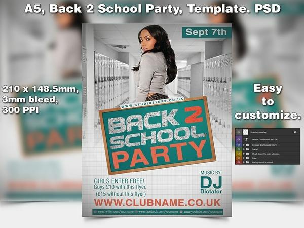 Back 2 School Flyer Template (A5 PSD)