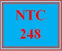 NTC 248 Week 1 Individual: Cables and Connectors and Networking Devices