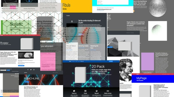 Anorexic Layouts - 20 Lean, Beautiful, High Converting Product Page Templates for Rapid Deployment