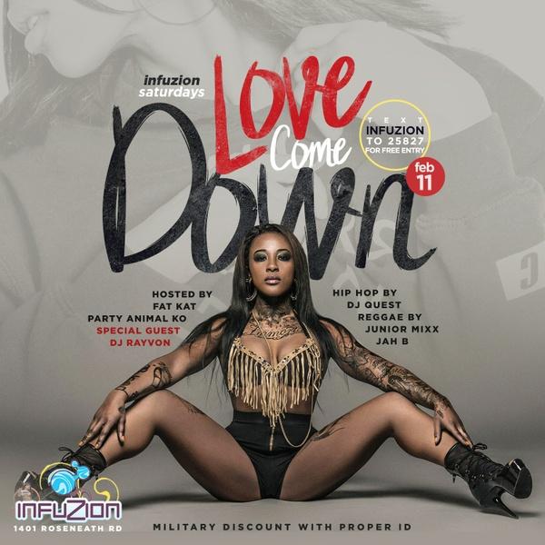 Love Come Down - Club Flyer