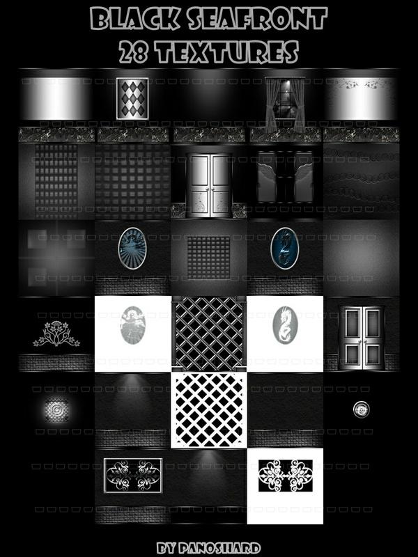 Black seafront 28 textures imvu room