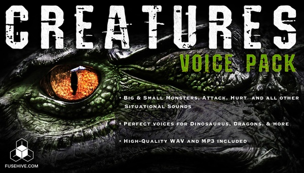 CREATURE VOICES - Dinosaur, Dragons and Monsters of all Sizes