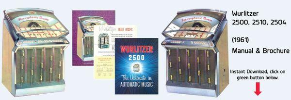 Wurlitzer Model 2500, 2510, 2504  (1961)