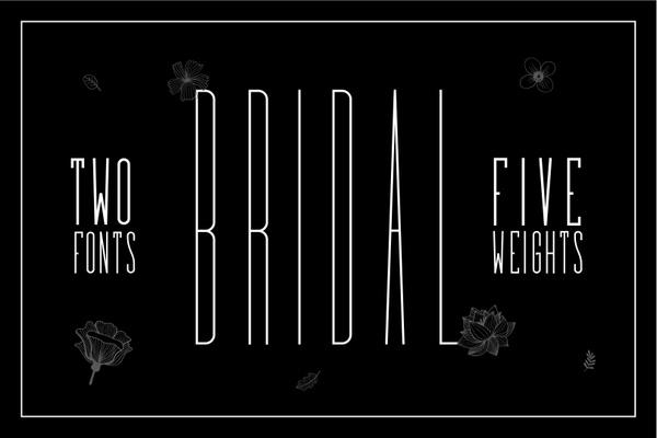 Bridal - Sans Serif Font Family