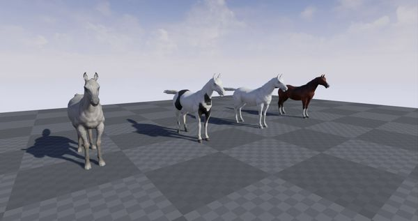 Realistic Animated Horse For Unreal Engine 4