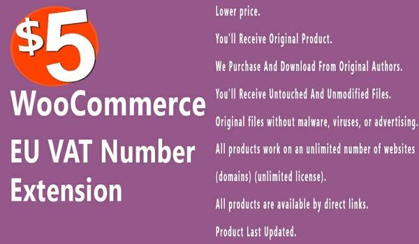 WooCommerce EU VAT Number 2.3.6 Extension