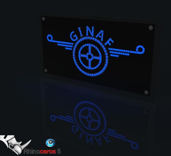 3D ledboard GINAF model