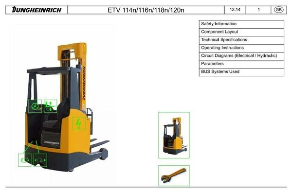 Jungheinrich Reach Truck: ETV114N, ETV116N, ETV118N, ETV120N (from 05.2012) Service Manual