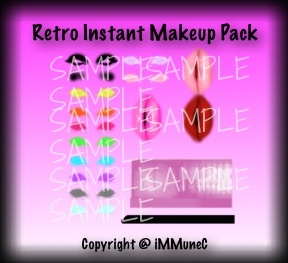 Retro Instant Makeup Pack With Resell Rights