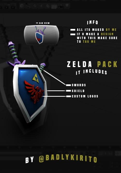 Zelda Pack, Link For Cinema 4D