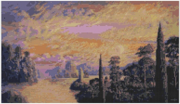 cross stitch pattern Mar-028c