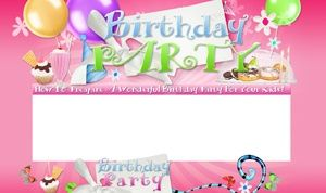 Birthday Party Minisite Template