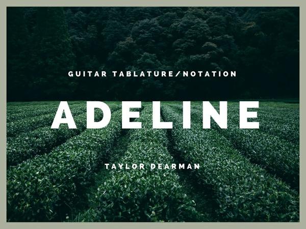 Adeline - Guitar TAB/Notation