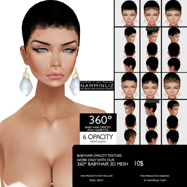 6 BABY HAIR 360° OPACITY imvu Hairstyle