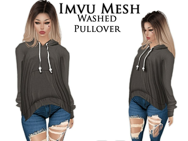 IMVU Mesh - Tops - Washed Pullover
