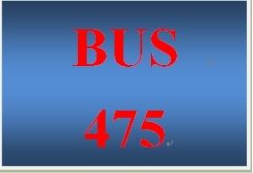 BUS 475 Week 2 SWOT Paper
