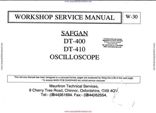 Safgan DT410 Oscilloscope